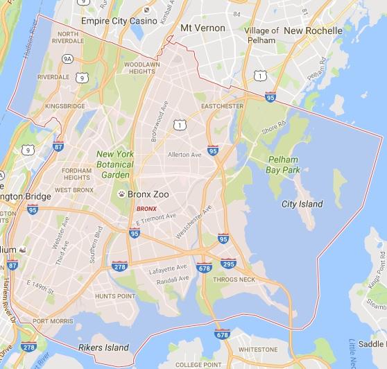 Zip Code Map Bronx.Bronx Tree Service Areas Tree Service Areas Tree Removal Service
